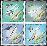Prophila Collection Pakistán Michel.-No..: 475-478 Bloque de Cuatro (Completa.edición.) 1978 vuelos con Motor (Sellos para los coleccionistas) Aviación