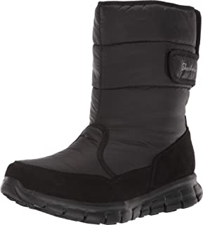 Skechers SYNERGY - Mid Quilted Nylon and Microfiber Boot womens Snow Boot