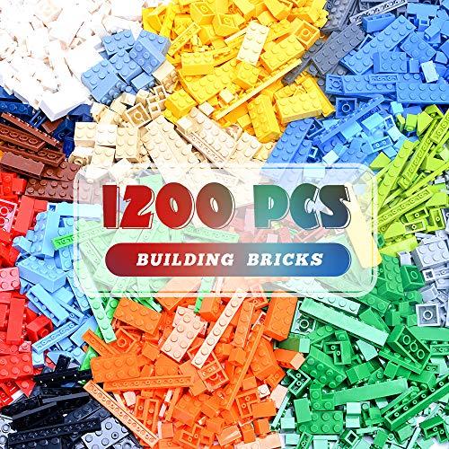 Lekebaby Bricks Bausteine, Klassische 1200 Teile Building Blocks Kompatibel mit Allen Wichtigen Marken
