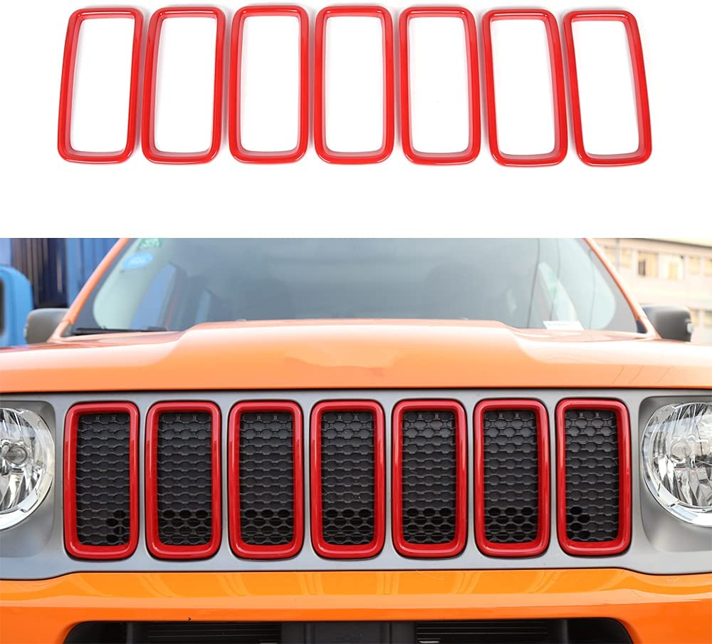 JUNLELI Front Grille Insert Trim Max 81% OFF Grill Decoration Guard Cover fo Save money