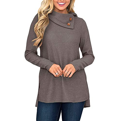 b9d3e62ca84 For G and PL Women's Cowl Neck Sweatshirt with Button