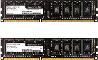 TEAMGROUP Elite DDR3 8GB Kit (2 x 4GB) 1600MHz (PC3-12800) CL11 Unbuffered Non-ECC 1.5V UDIMM 240 Pin PC PC ذاكرة سطح المك...