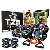 Life Element Shaun T FOCUS T25 Insanity Home Workout DVD Set para hombre mujer perder peso y programa de fitness – 25 minutos 5 días a la semana 100% resultados (contiene una guía de dieta nutritiva)