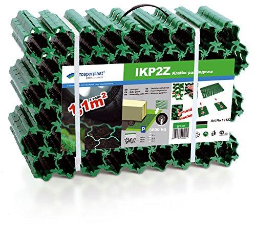Rasengitterplatten grün 1,1 m² Paddockplatten Rasengitter-Steine Rasensteine