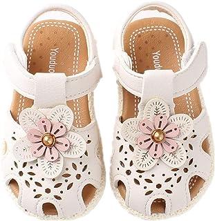 Auxma Sandales à Semelle Souple pour bébé Filles Chaussures de Mariage de Robe de Robe antidérapante pour 6-36 Mois