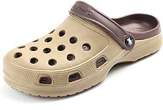 Kurop Mens Garden Beach Shoes Outdoor Non Slip Double Color Summer Sports EVA Clogs Sandal Slippers