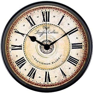 Attoe Wanduhr, 30 cm Metall Wanduhr Europäischen Stil Retro Vintage Uhr Nicht Ticken Ruhig Batteriebetrieben mit HD Glas Leicht zu Lesen für Inneneinrichtung/Wohnzimmer/Küche/Schlafzimmer