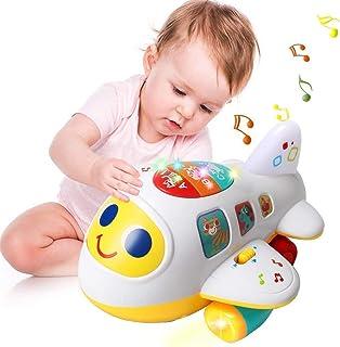 EARSOON CoolToys My First Plane Vliegtuig speelgoed voor peuters en baby's voor het leren van brieven, cijfers en kleuren...