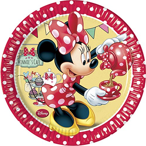 Perona Pack 8 platos 20 cm, Minnie Mouse, 20cm (50890)
