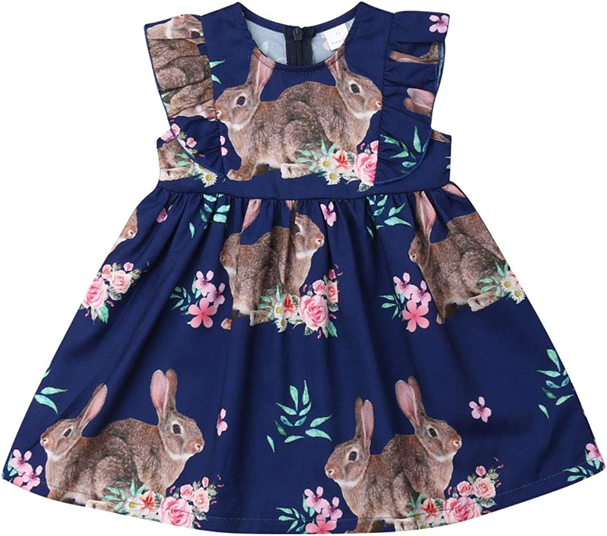 Qpap Toddler Baby Girls Easter Bunny Dress Tutu Skirts Princess Dresses Pageant Summer 1st Easter Skirts Clothes