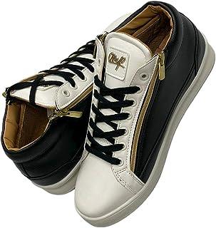 Bee Negro Blanco Oro Zapatos para Hombre