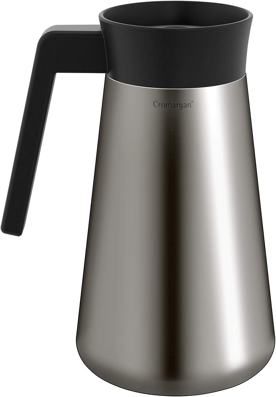 WMF KITCHENminis Machine à Café Filtre Aroma Thermo-To-Go Compacte avec Carafe Isotherme et Mug à Emporter 760W 0412260011 Graphite