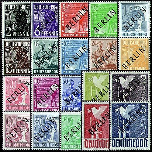 Goldhahn Berlin Nr. 1-20 Fotoattest Schwarzufdruck Briefmarken für Sammler