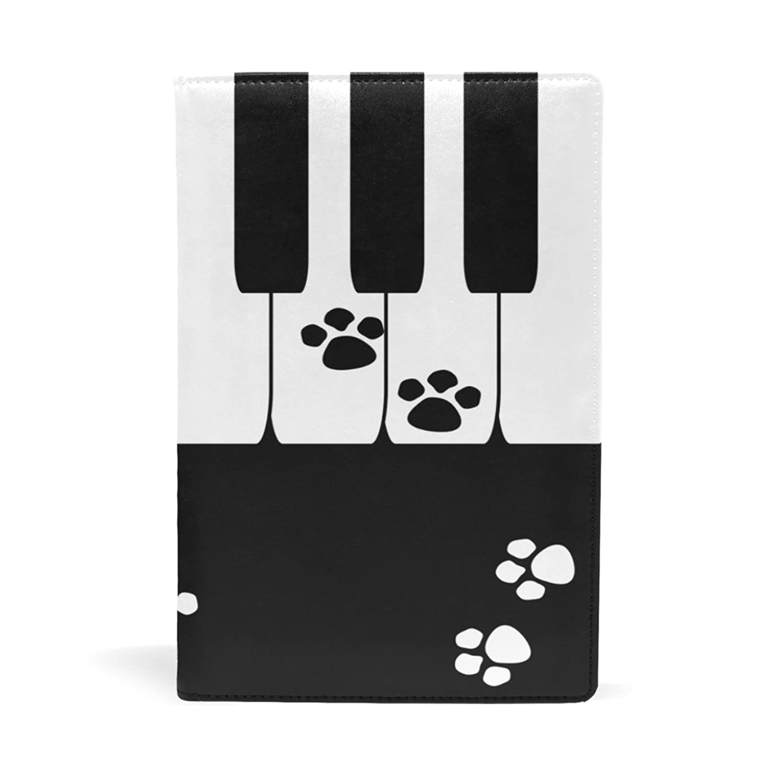 バララ(La Rose) ブックカバー 文庫 a5 皮革 レザー おしゃれ かわいい 猫 ネコ柄 ピアノキーボード 文庫本カバー ファイル 資料 収納入れ オフィス用品 読書 雑貨 プレゼント