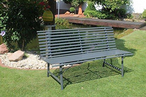 Beauty.Scouts Gartenbank Imperial - in Anthrazit 150cm Stahl Sitzbank 2-3 Sitzer witterungsbeständig mit lehne stabil
