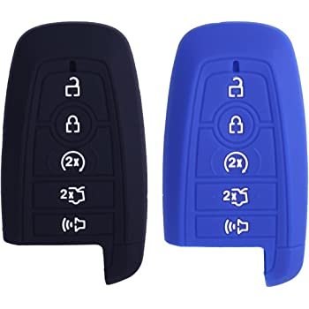 Coolbestda 2Pcs Silicone 5Buttons Key Fob Remote Glove Case Protector Holder Skin Jacket Accessories Compatible for 2017 2018 2019 Lincoln Navigator MKC MKZ Continental MKX M3N-A2C940780