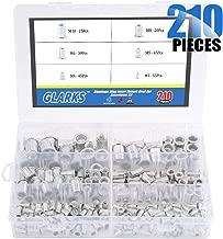 Glarks 210Pcs Aluminum Alloy M3 M4 M5 M6 M8 M10 Flat Head Metric Threaded Rivetnut Insert Nutsert Rivet Nut Assortment Kit