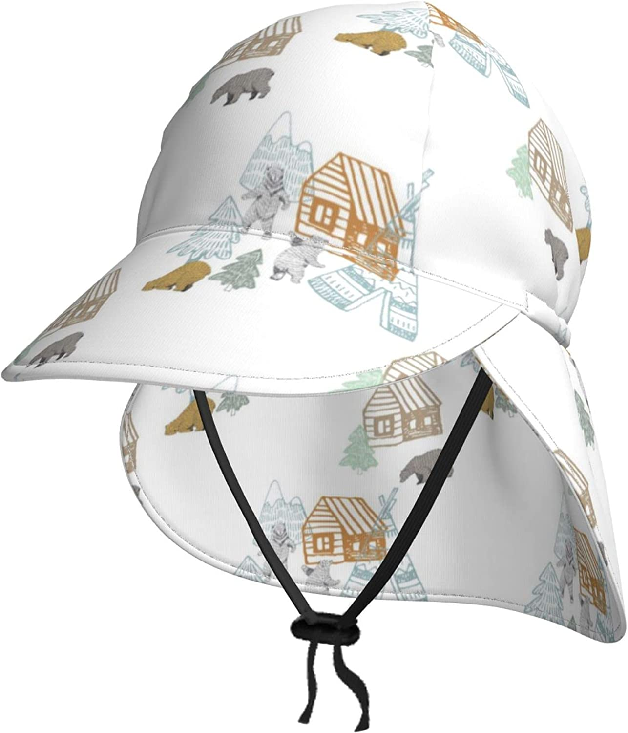 Lodge Oklahoma City Mall Bear Tree Kids Sun Hat Neck Breat Summer with New products world's highest quality popular Flap