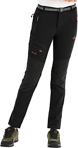 Sidiou Group Pantalon Softshell Femme Pantalon Trekking Homme Pantalon Ski Pantalon descalade Pantalon Imperm/éable Coupe-Vent Respirant Fleece Pantalon de Randonn/ée pour Homme