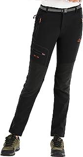 DENGBOSN Pantalones de Montaña Mujer Impermeables Invierno