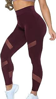 Women Sports Mesh Trouser Gym Workout Fitness Capris Yoga...
