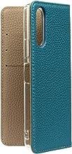 バイカラー本革シュリンクレザーケース Xperia 10 II ブルー×グレー