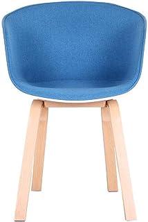 PPCAK Un Conjunto de 4 sillas de Comedor de Tela con diseño Medieval, sillones de diseño Retro con Patas de Metal sólido, Cocina, Comedor (Color : Blue)