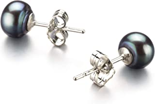 6-7mm AA Quality Freshwater 925 Sterling Silver Cultured Pearl Earring Pair For Women