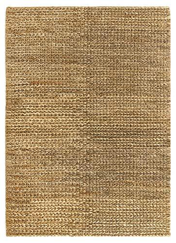 HAMID - Jute Nashik Teppich Naturfarbe - 100% Jutefaserteppich - (230x160cm)