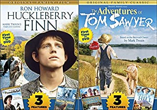 Mark Twain Movie Collection - Tom Sawyer & Huckleberry Finn (with Bonus films Trasure Hunters, Devil's Hill, The Proud Rebel & Walking Thunder) 6-Movie Bundle