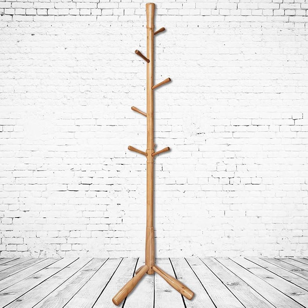 減らす手数料下固体木の帽子のコートの立場の頑丈で自由で永続的なコートの帽子の棚、傘のホールダーが付いている帽子の立場8のホックの固体基盤 (Color : A)