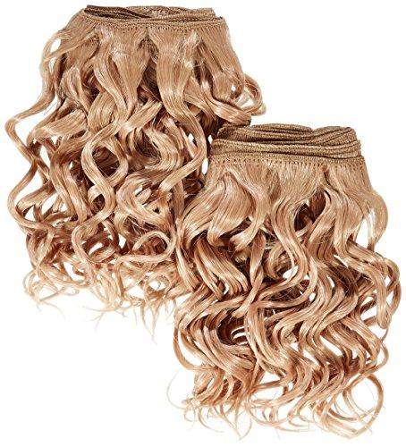 chear espagnol Wave 2 en 1 trame Extension de cheveux humains avec de mélange tissage numéro 27, auburn clair 20 cm