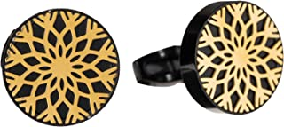 Diamond Moon Stainless Steel Cufflinks for Men, Stainless Steel - 1800541240457