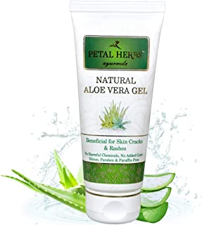 Petal Herbs Ayurveda Aloe Vera Gel (100 ML) For Face & Skin | Pure & Natural Face Gel For Prevent Pimples & Acne, Helps in...