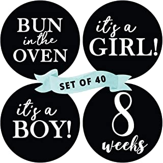 Baby Bump Belly Stickers Maternity Week Sticker Pregnant Expecting Photo Prop Keepsake Expectant Mom Gift Months in Motion Pregnancy Weekly Belly Growth Stickers Style 918