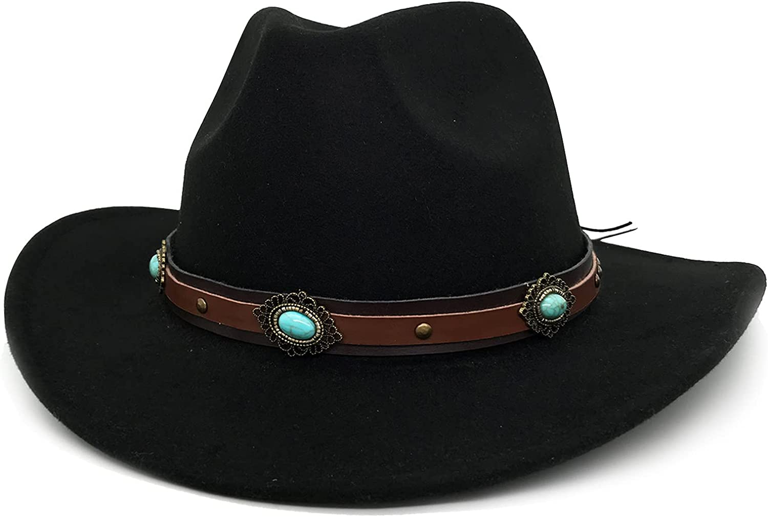 Lisianthus Seattle Mall 67% OFF of fixed price Women's Western Cowboy Cowgirl Style Hat Brim Wide