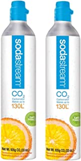 Sodastream 130L Co2 Carbonator, 2 Pack - Compatible with Jet Sparkling Water Maker ONLY