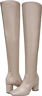 Franco Sarto Women's Pisabt Knee High Boot, Taupe Wide Calf, 6.5