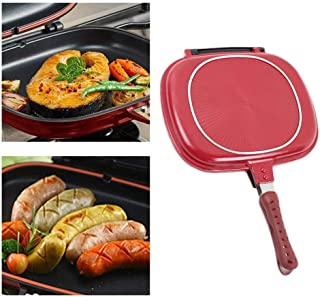 Plegable de doble cara Cacerola de presión - 28cm/32cm antiadherente Barbacoa Steak sartén, tortilla Pan, Flip Pan, Pan magia plancha de la cocina del hogar