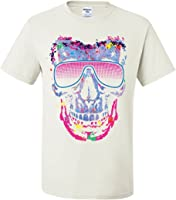 Neon Skull Sunglasses T-Shirt Swag Multicolor Music EDM Rave Pop Tee Shirt
