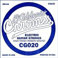 D'Addario ダダリオ エレキギター用バラ弦 フラットワウンド .020 CG020 【国内正規品】