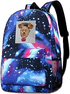 Galaxy Printed Shoulders Bag Kim Jong Un Dog Snapchat Filter Fashion Casual Star Sky Backpack For Boys&girls