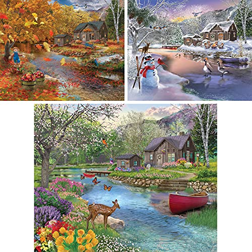 Bits and Pieces - Value Set of Three (3) 500 Piece Jigsaw Puzzles for Adults - Each Puzzle Measures...