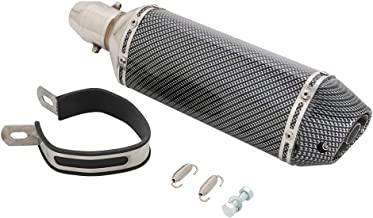 """Best Universal 1.5-2"""" Inlet Slip On Exhaust Muffler With Removable DB Killer - Street Bike Motorcycle Scooter - Carbon Fiber Color Reviews"""
