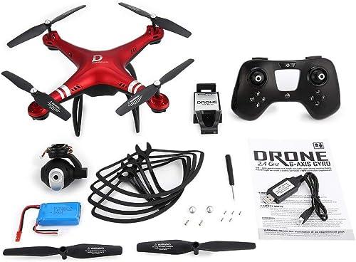 GreatWall X8 RC Drohne 720P Einstellbare Kamera FPV RC Drohne 18 Minuten Flugh  Halten Sie Rot