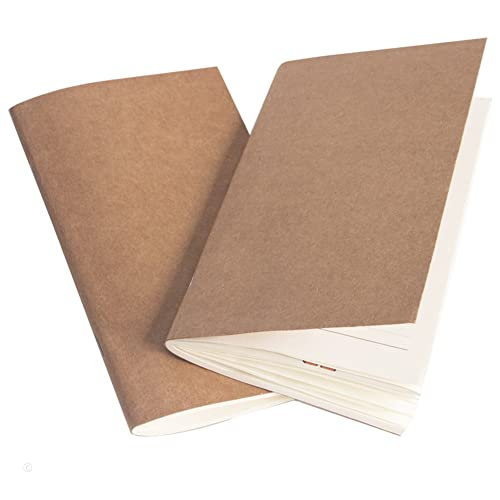 Filler Paper Journal Refills Lined and Blank Paper Set of 2 Inserts for Travelers Notebook - 7.4 x 4 inch - 152 Pages