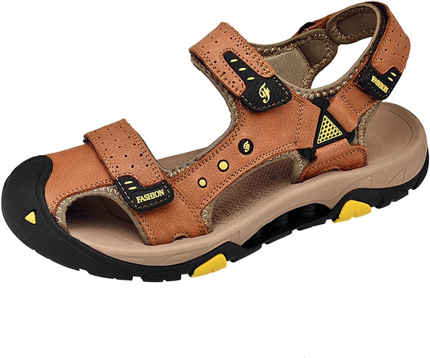 AGOWOO Sandles Womens Closed Toe Athletic Leather Hiking Sandals for Women
