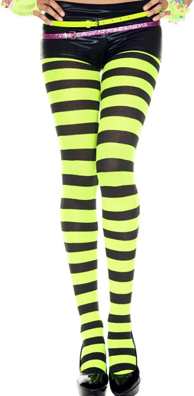 Quenny Wide striped tights.