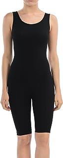 7Wins JJJ Women Catsuit Cotton Lycra Tank Bermuda Short Yoga Bodysuit Jumpsuit