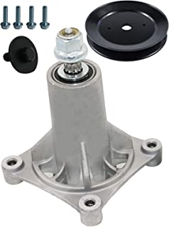 187292 192870 Spindle Assembly with 153535 Spindle Drive Pulley for 42 and 52 Inches YT4000 YS4500 Lawn Mower Replaces Husqvarna AYP McCulloch Poulan Craftsman Ariens 539112057 587125401 532187281